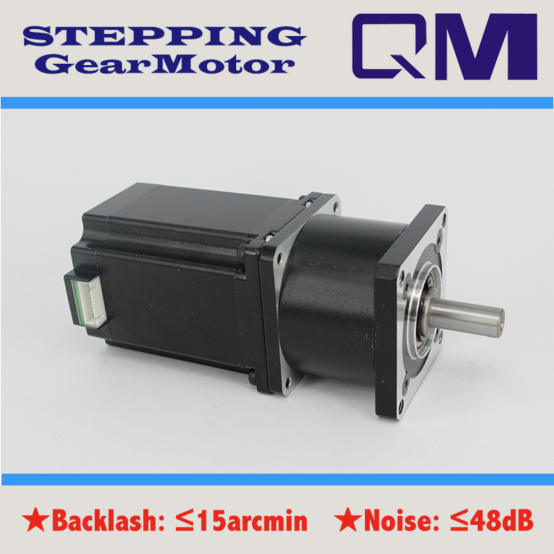 ФОТО  Gear motor planetary  gearbox ratio 10:1  nema 23  stepper motor L=77mm