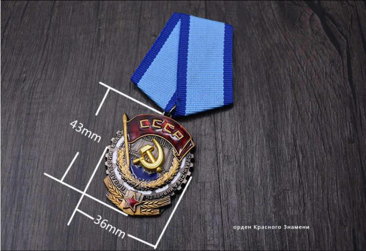 Kualitas Soviet Order Red Banner Tenaga Kerja Uni Soviet Rusia Medali Lencana