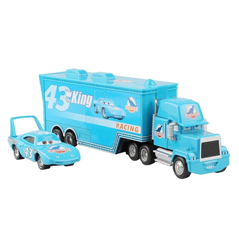 Дисней Pixar Тачки 2 3 игрушки Молния Маккуин Джексон шторм мак грузовик 1:55 литая модель автомобиля игрушка детский подарок на день рождения - Цвет: Two cars H