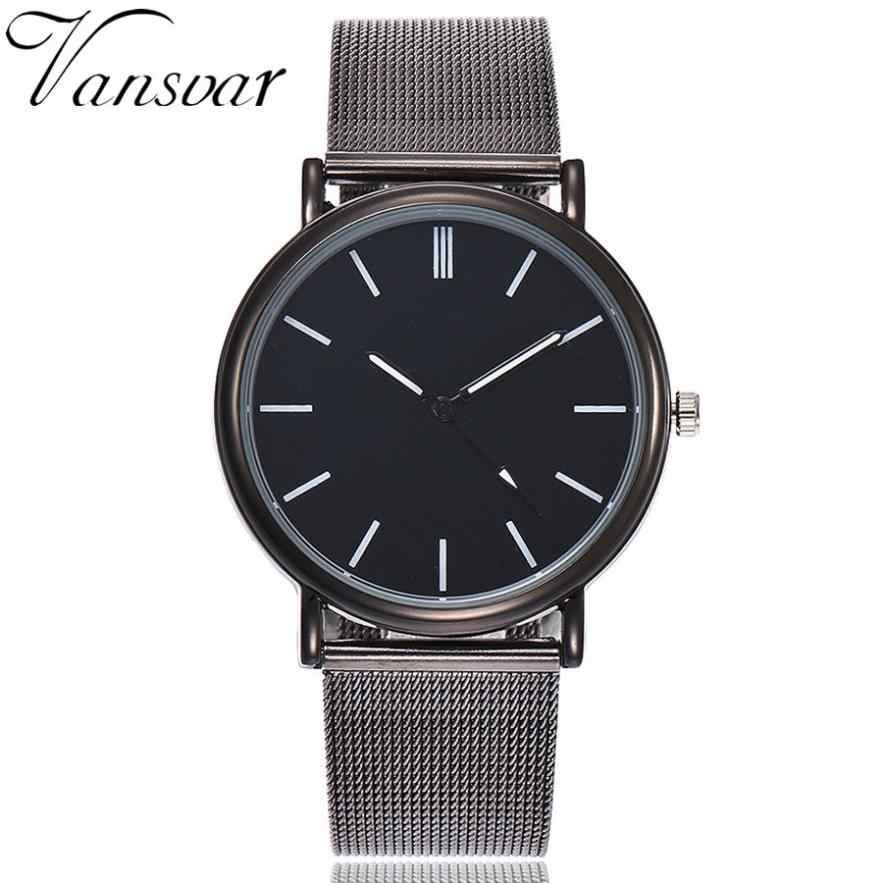 Vansvar повседневные кварцевые часы женские часы стальной ремешок мраморный ремешок аналоговые наручные часы
