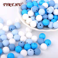TYRY. HU Food Grade Silikon Perlen 40 stücke 12mm Baby Pflege Zahn Spielzeug BPA FREI Runde Lose Perlen Mordedor Kleinkinder zahnen Bead