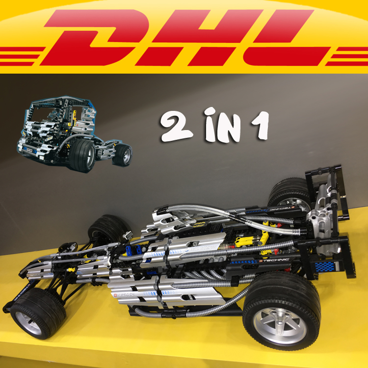 Yile 303 Technic Series The Ultimate Sliver Champion F1 Racing 8458 Educational Building Block Car Toys For Children