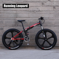 Running Leopard High quality folding bike fetbike 26 inches 24 speed 26 x 4.0 Front and rear damping bike mountain bike.