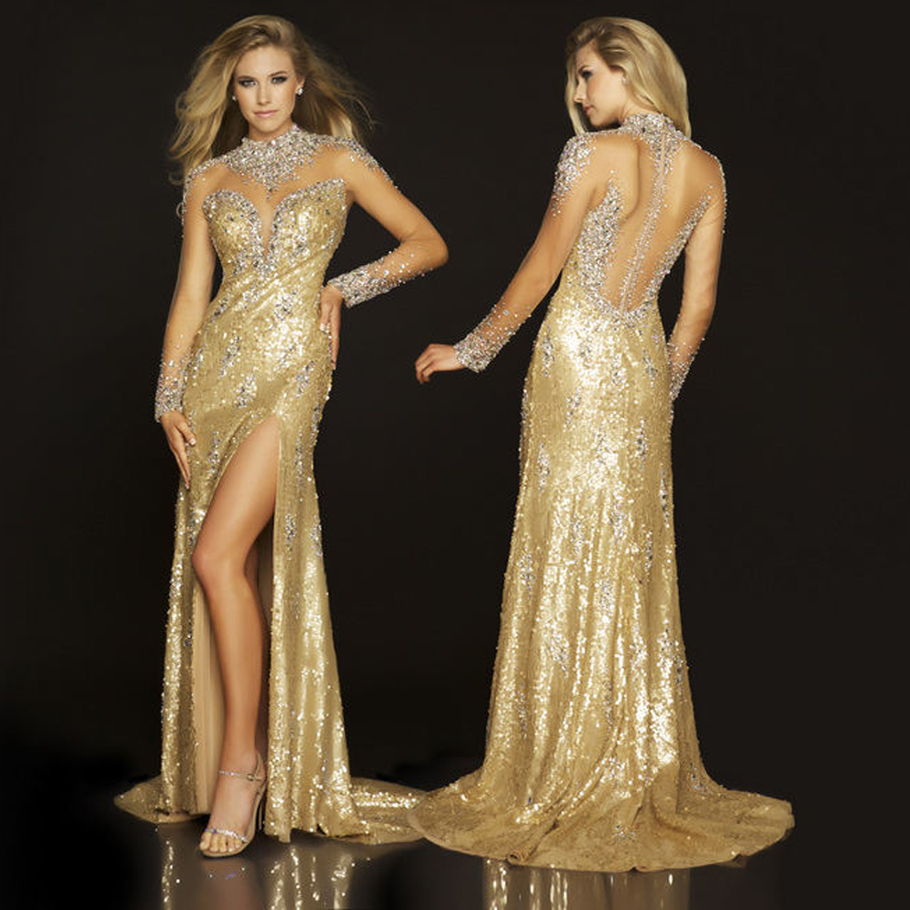 Online Buy Wholesale gold sparkly dress long from China gold ...