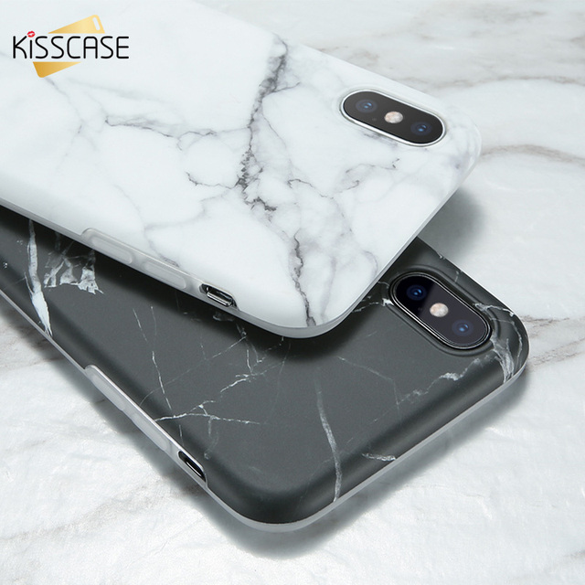 quality design 6fb85 b5ae9 US $2.49 20% OFF|KISSCASE Marble Case For iPhone 6S 6 Case Simple White  Black Silicon Back Cases For iPhone 6 S plus 6 plus 7 8 XS MAX XR X  Funda-in ...