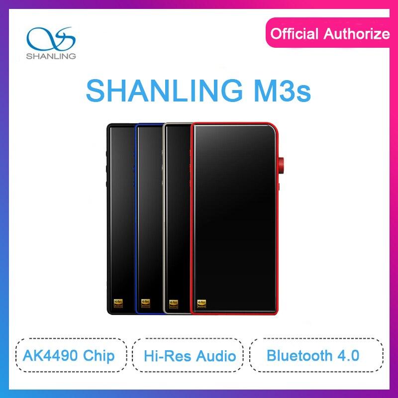 Shanling M3s Double dac ak4490 Salut-Res 32bit/384 khz Bluetooth 4.1 Sans Perte MP3 Lecteur Compensée PO /LO Hiby Lien
