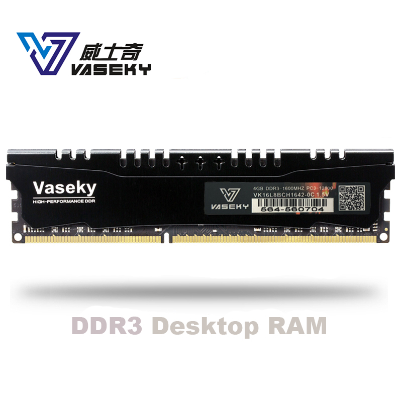 Vaseky 2gb 4GB 8GB 4G 8G 2g PC Memory RAM Memoria Module Computer Desktop PC3 DDR3 12800 10600 1600MHZ  1333mhz 16gb 32gb