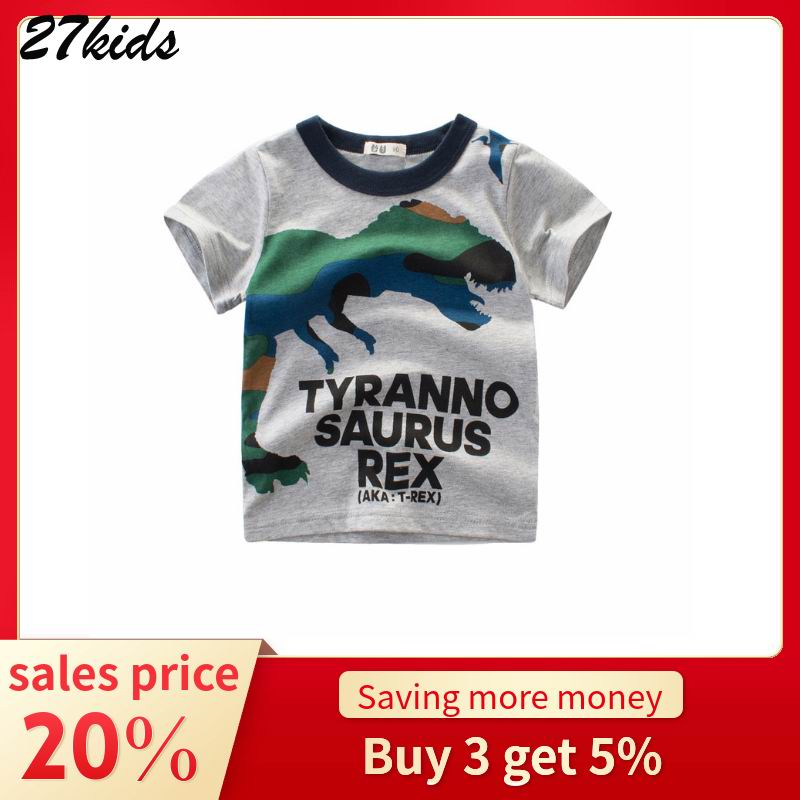 27youngsters Summer season Dinosaur Youngsters Boy Woman Shirts Cotton Child Youngsters Clothes for Child Shirts Summer season 2019 Tops Tee Garments boys t shirt, boy t, youngsters boys clothes,Low...