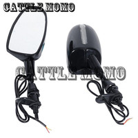 6mm Thread LED Rearview Rear View Wing Side Mirrors For Kawasaki Ninja 500 1994 2006 2007 2008 ZZR 600 2005 2008 ZX 10R 04 07