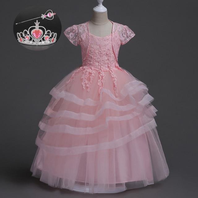 e015e8c5f Bonito Roupas de Festa 3 Anos Para Tamanho 14 das Crianças Princesa vestido  de Baile Azul