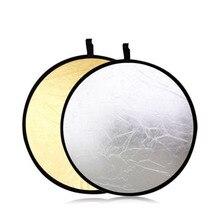 """Фотографии 43 """"2 в 1 Light Mulit серебро/золото складной диск Отражатели 110 см"""