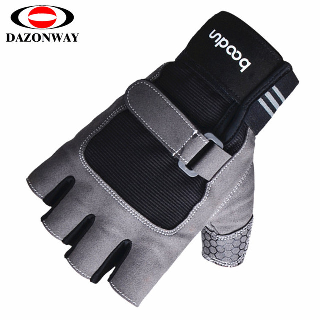 2019 New Gym Gloves Heavy weight Sports Exercise Weight Lifting Gloves Body Building Training  Crossfit Sport Fitness Gloves S~L