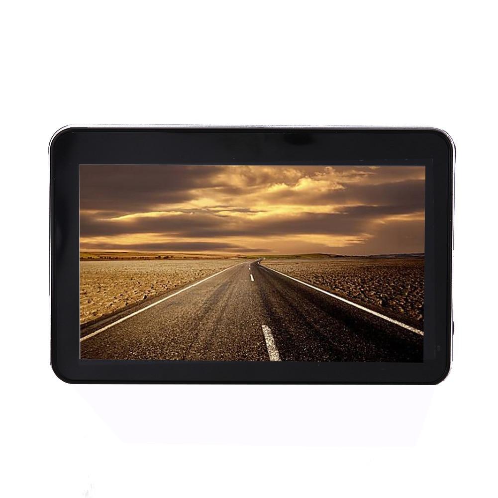5 voiture de Navigation GPS Avec Cartes Gratuites À Vie Chargeur De Voiture Écran Tactile Mp3 Mp4 Lecteur de Musique Jeu Russe Carte GPS