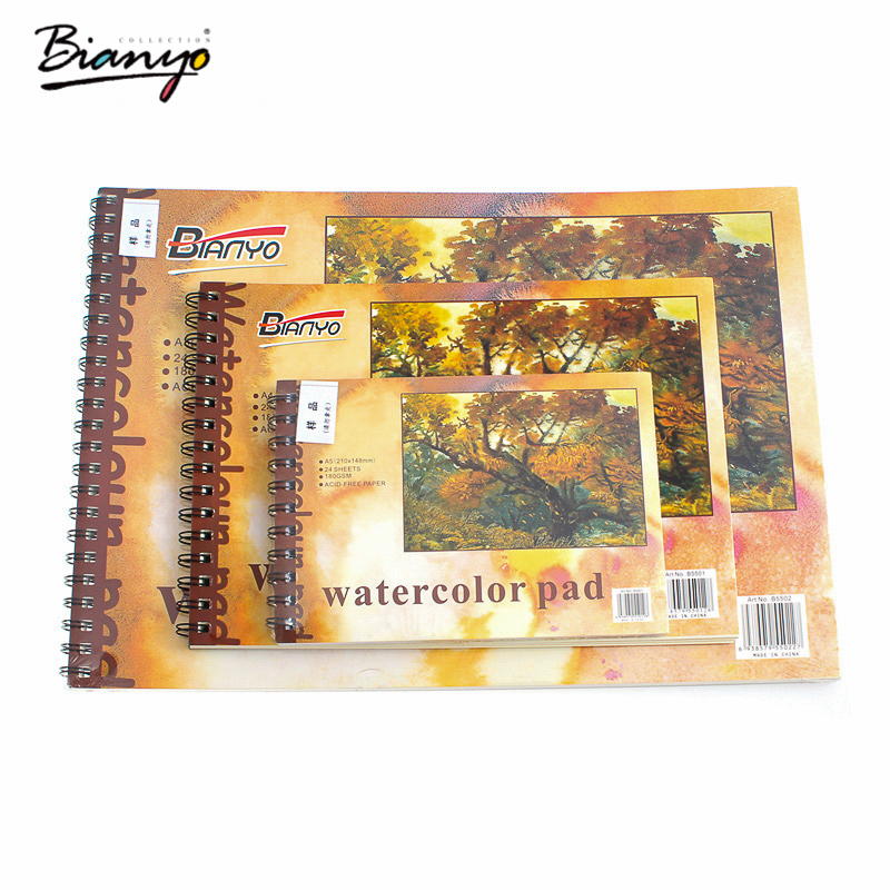 Bianyo Sketchbook Drawing A3/A4/A5 notebook diary Professional Sketch Book Artist Tracing Paper Pad For Diary Painting Notes цена 2017
