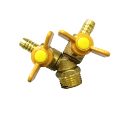 цена на 1/2 thread High-Quality Forging Gas Valve  Brass Three-Way Natural Gas Switch Ball Valve Male And Female Thread