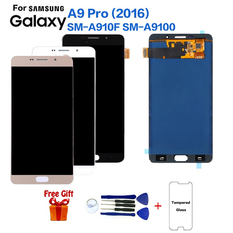 For <font><b>Samsung</b></font> <font><b>Galaxy</b></font> <font><b>A9</b></font> Pro(2016) SM-A910F Display <font><b>lcd</b></font> <font><b>Screen</b></font> replacement for <font><b>Samsung</b></font> <font><b>A9</b></font> Pro(2016) SM-A9100 display <font><b>screen</b></font> module image