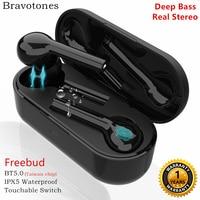 Freebud Waterproof Touchable Switch TWS Earbuds 5.0 Bluetooth Earphone Headset Real Stereo Noise Cancelling Wireless Earphones