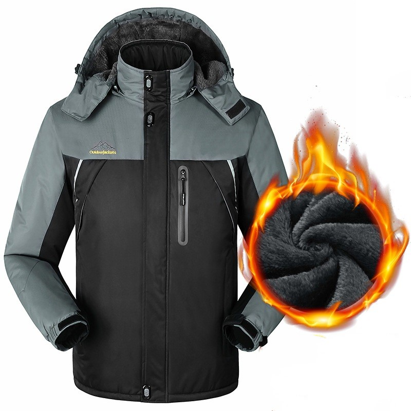outdoor large size M~9XL Unisex men women the same paragraph Thicken Plus cashmere jackets with hood Breathable keep warm coat все цены