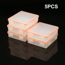 купить 5pcs Soshine 4 Cell 18650 Battery Waterproof Storage Case 18650 Transparent Battery Holder Box Hard Plastic Protective Case по цене 612.88 рублей