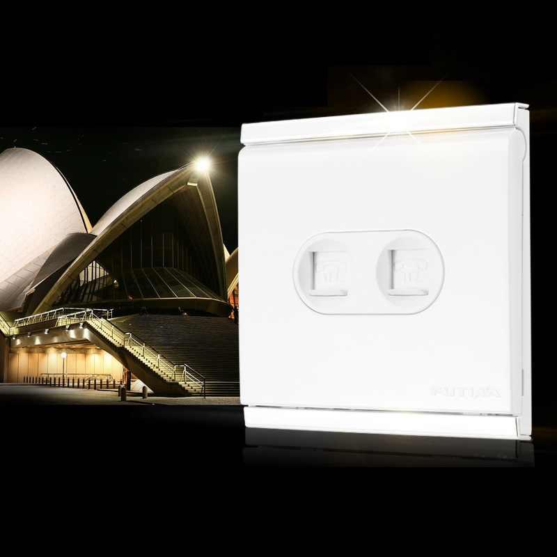 高品質ダブル電話ソケットピアノのキーシリーズ壁ソケット電気めっきフレーム(飾り枠)難燃性pc 86*86ミリメートル