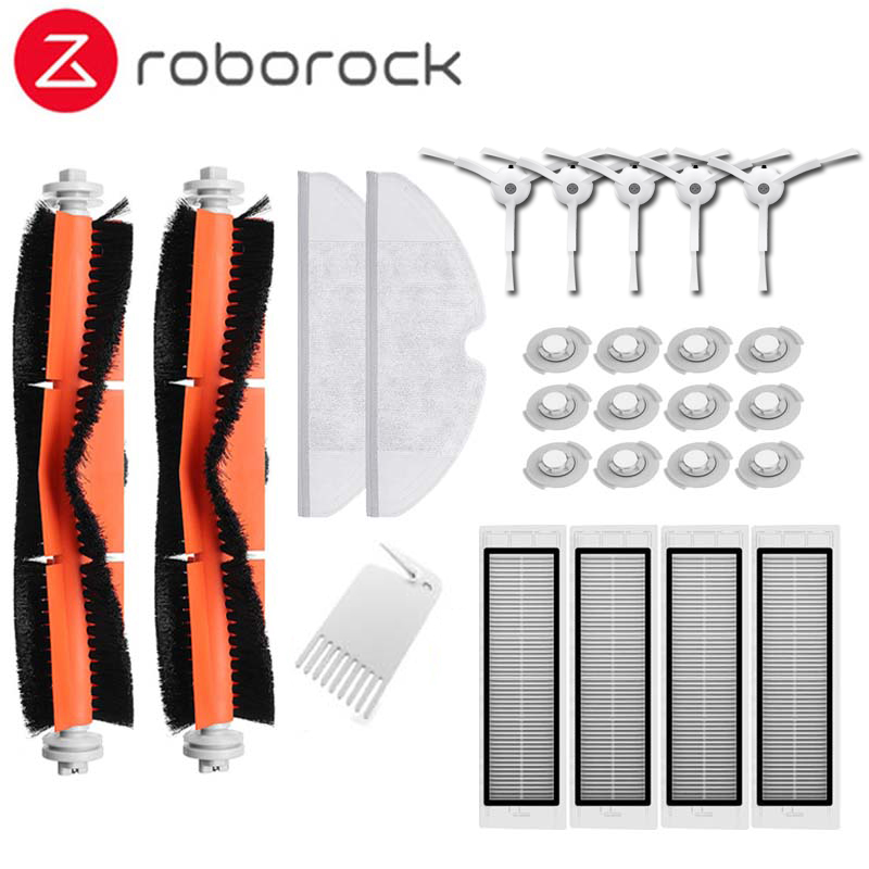 Escova principal Filtro Hepa Escova Lateral mop panos indicado para Xiao mi mi Robô Roborock s50 s51 Roborock 2 Vácuo mais limpo Kit de peças de reposição