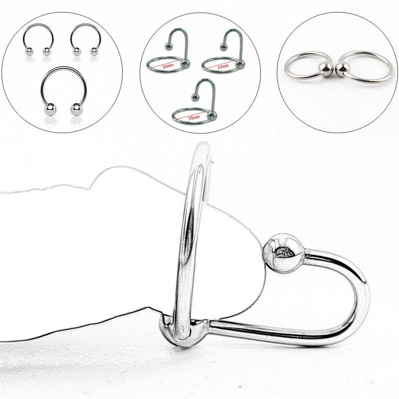 БДСМ Связывание металлическое кольцо для пениса кольцо для члена стимулирование задержки пениса эякуляции Анальная пробка игры и игрушки для секса для мужчин экзотические аксессуары| |   | АлиЭкспресс