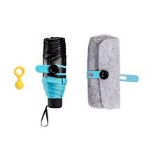 Мода складной Зонты мини Карманный Зонт для женщин солнечный и дождливый Портативный Малый Защита от солнца зонтик дождь Новый