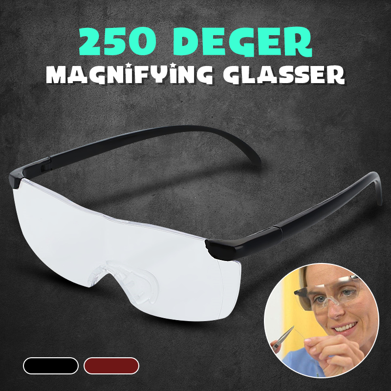 Dropship 250% Vision Unisex Pro Magnifying Glasses Eyewear Reading Magnification Gift For Needle Magnifier Lightweight Glasses