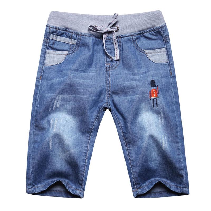 Új gyermek nyári fiúk farmer rövidnadrág márka farmer nadrág gyerekek divat alkalmi fiú nadrág fiúk 2-13y DQ302