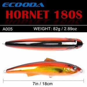 Image 5 - Ecooda Hornet 180mm 82g Fishing Popper Saltwater lure Topwater Trolling big Pencil Lure Hard bait Floating For Kingfish/Tuna