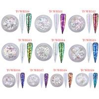 TCT 238 Unicorn White Chameleon Flakes Magic Flakes Multi Chrome Nail Powder Rainbow Flakes Nails Glitter Aurola Glitter Henna
