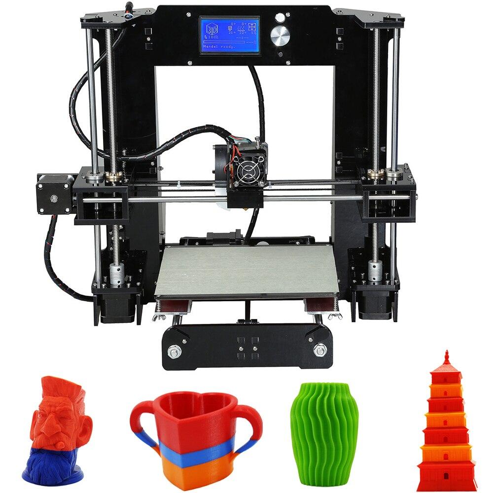 High Precision Anet A6 3D Desktop Printer Kit LCD Control Screen Display DIY Artwork Home Decoration 3D Effect Printed Machine anet a6 3d desktop printer kit