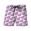 New Arrive Mens Streetwear Short Pants Diamonds Prints 3D Shorts Male Funny Emoji Beach Shorts Hip Hop Board Shorts