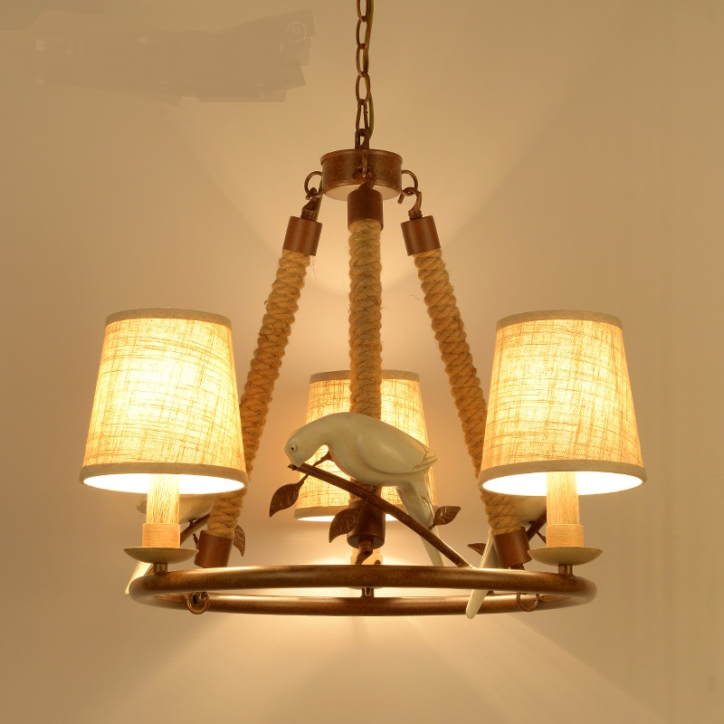 Individual Pendant Lights American Country Birds Living Room Retro - Individual pendant lights