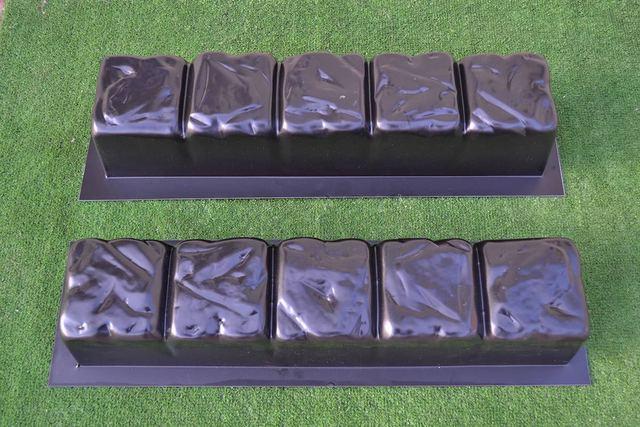 2 pi ces bord pierre b ton moules bordure fronti re moule. Black Bedroom Furniture Sets. Home Design Ideas