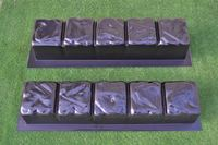2 PIECES EDGE STONE CONCRETE MOLDS EDGING BORDER MOULD ABS PLASTIC Garden Mold Path Road Stepping Stone Maker