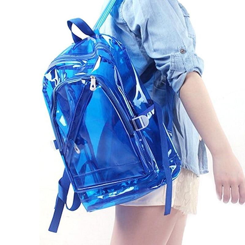 Pullover Fggs-transparent Klar Pvc Rucksack Exquisite Frauen Zipfel Transparent Bookbag Kristall Strandtasche Portable
