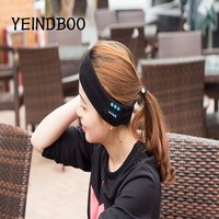 YEINDBOOSmart Wearable Headphone StereoMagicMusic Headband Sports Bluetooth Wireless Headset With Mic Answer Call For SmartPhon