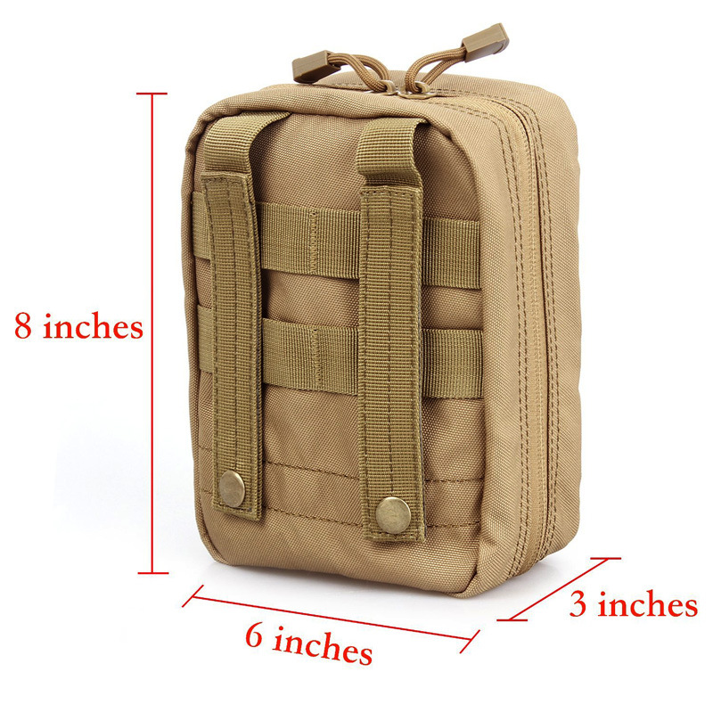 10PCS Tactical Camping First Aid Kit Patch Bag Outdoor Utility Pouch Molle Medical Cover Hunting Emergency Survival Package