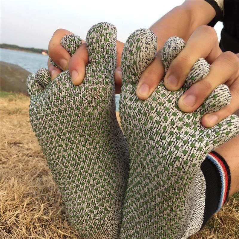 High Quality Comfortable 5 Toe Cut Resistant Socks Non Slip Yoga Stockings Hiking Running Climbing Arefoot Socks