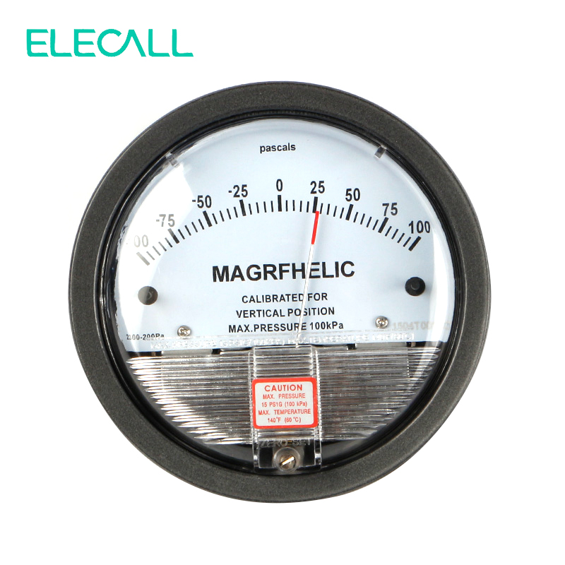 ELECALL New -100~100PA TE2000 Micro Differential Pressure Gauge High Precision 1/8