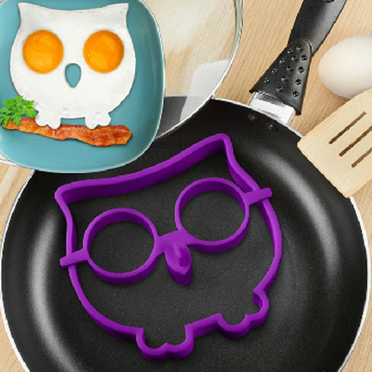 Free Shipping Fried Egg Mold Pancake Egg Ring Shaper Kitchen Appliances Silicone Egg Mold Tool Breakfast Funny Cooking Tools