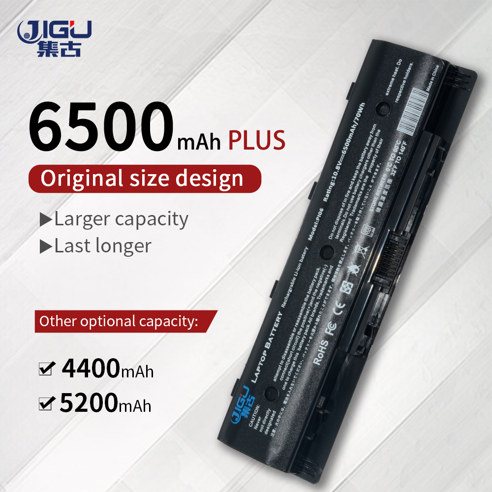 JIGU Black 6Cells HSTNN-UB4N 710416-001 New Laptop Batteries For HP Pavilion14 Pavilion 15 Batteries PI06 PI09