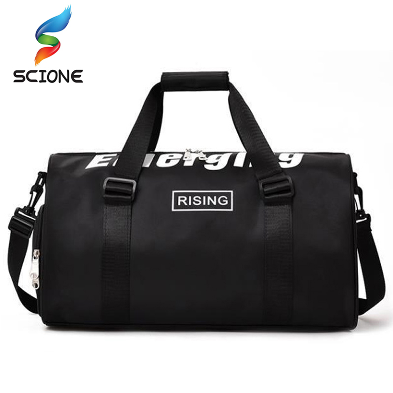 Hot Nylon Waterproof Sports Gym Bag With Shoes Pack Profession Men Women Fitness Shoulder Bag Travel Yoga Handbag Luggage Bags Security & Protection Access Control