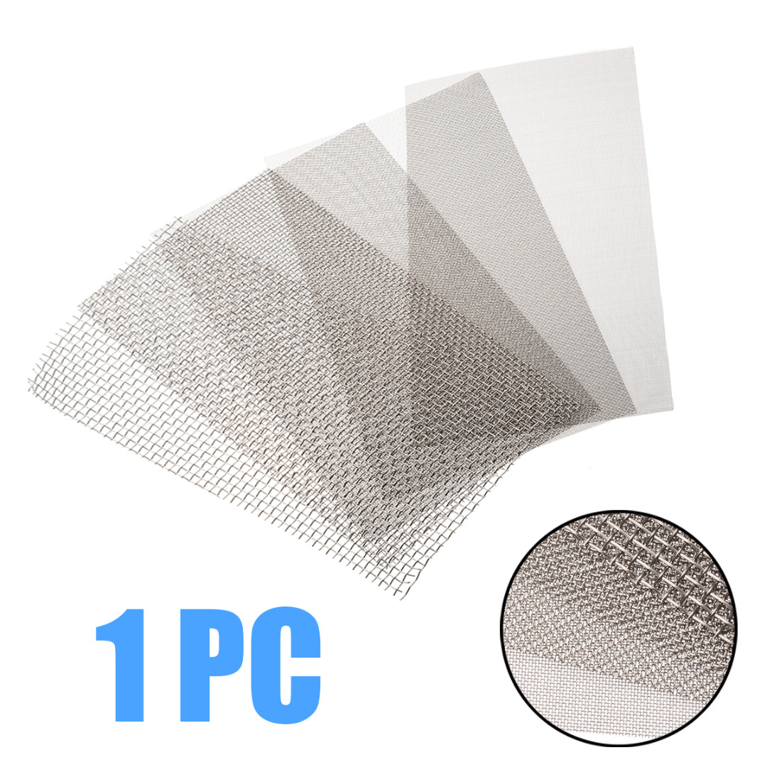 1pc 6x12'' Woven Wire Mesh Sheet Stainless Steel Cloth Screen Filter 5/8/20/30/40