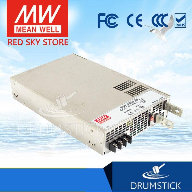 Offres spéciales moyenne bien RSP-3000-24 24V 125A meanwell RSP-3000 24V 3000W alimentation à sortie unique