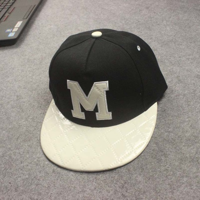 M letter baseball cap hip hop men brand snapback cap snap back for women 994a8817a3f0
