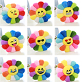 40CM Seat Cushion Colorful Rainbow Emoticon Emoji Pillow Sun Flower Doll Pillow Cushion Realistic Plush Toys Children's Gifts