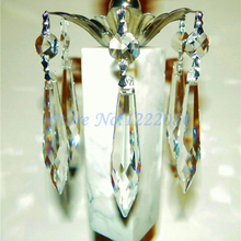 10 шт 76 мм французский u-капля кристаллического стекла призмы масла, керосина лампы люстры части