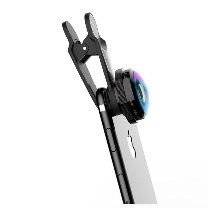 High Clarity 8mm Fisheye Lens Full Screen Mobile Phone Lens For Samsung S8 S7 iPhone X 8 7 6S Fish Eye Camera Lenses L-823